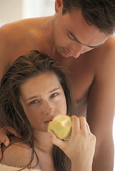 Man, woman, food, sex, sexy