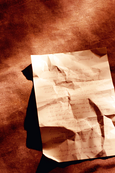 Crumpled Rejection Letter